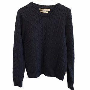 Tommy Hilfiger navy round neck sweater size large
